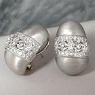 Designer 18k 0.72 Cttw. Diamond Earrings