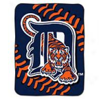 Detroit Tigers 60in X 80in Baseball Throw