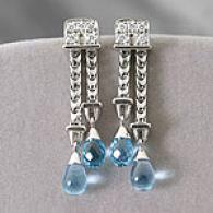 Di Modolo 18k 0.22 Cttw. Diamond & Topaz Earrings