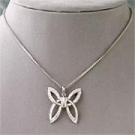 Di Modolo 18k Diamond Butterfly Necklace
