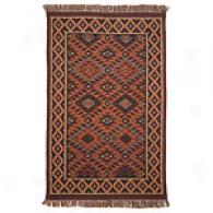 Diamond Southwest Hand Knotted Jute & Wool Rug