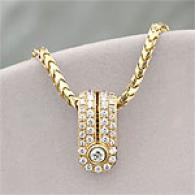 Dimodolo 18k Yellow Gold .59 Cttw. Diamond Pendant