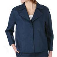 Dkny 3/4 Sleeve Lined Linen Jacket