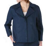 Dkny 3/4 Sleeve Lined Linen Jacket