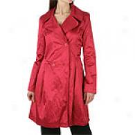 Dkny Magenta Skirted Trench Coat