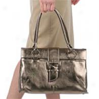 Donald J Pliner Lauras Metallic Leather Tote