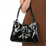 Donald J PlinerL in Flat Patent Leather Tote