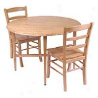 Drop Leaf Beechwood Table With Matching Chairs