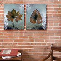 Dry Leaf Set Of 2 16in X 20in Canvas Prints