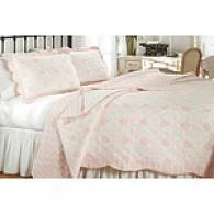 Dryen Pink Medallion Printed Cotton Quilt Set