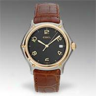Ebel 1911 18k Brown Leather Strap Watch