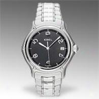 Ebel 1911 Black Unsullied Steel Watch