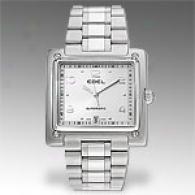 Ebel 1911 La Carree Silver Automatic Watch