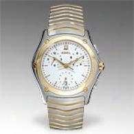 Ebel Classic Wave 18k Gold & Stainless Steel Watch