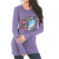 Ed Hardy Beauty Long Sleeve Rhinestone T-shirt