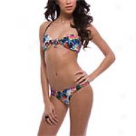 Ed Hardy Black Beautiful Ghosg Tube Bikini