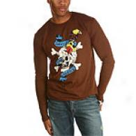 Ed Hardy Brown Death Or Glory Rhinestone Tee