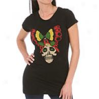 Ed Hardy Butterfly & Skull Cotton Tunic