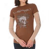 Ed Hardy Death Or Glory Double Sleeve T-shirt