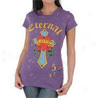Ed Hardy Love & Cross Potassium Splotch Tee
