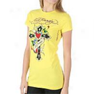 Ed Hardy Love & Cross Short Sleeve Tunic Top