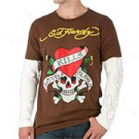Ed Hardy Love Kills Slowly Rhinestone T-shirt