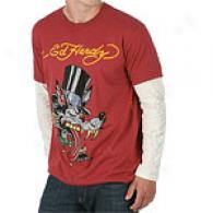 Ed Hardy Lover Boy Rhinestone Long Sleeve T-shirt