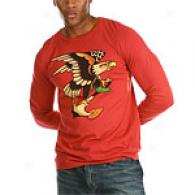 Ed Hardy Mens Red Eagle Anchhor Long Sleeve Tee