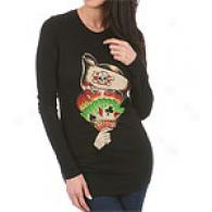 Ed Hardy Pirate Chick Long Sleeved T-shirt