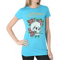 Ed Hardy Skull & Roses Short Sleeve Tunic Top