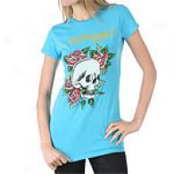 Ed Hardy Skull & Roses Tunic With Rhinestones