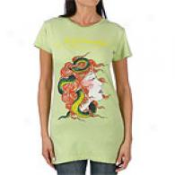 Ed Hardy Snake Head Woman Short Slreve Basic Tee