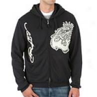 Ed Hardy Uzi Hoodie With Leather Appliqu&eaxute;