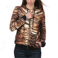 Ed Hardy Womens Reversable Tiger Print Hoodie
