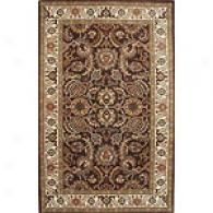 Edi Brown & Dark Ivory 5x8 Hand Tufted Wool Rug