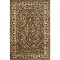 Edi Green & Dark Ivory Hand Tufted Wool Rug