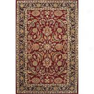 Edi Red & Ebony 5x8 Hand Tufted Wool Rug