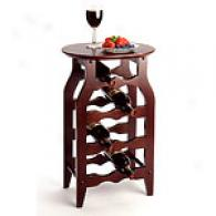 Eight-bottle Wood Wine Rack