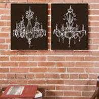 Elegant Chandeliers Sharpen Of 2 Canvas Prints