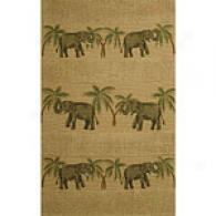 Elephants Jute Rug