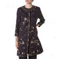 Elie Tahari Cotton Viole Rebecca Coat