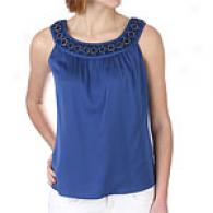 Elie Tahari Stretch Georgerte Abbie Blouse