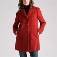 Ellen Tracy Petite Ruby Wool Coat