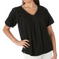 Emanuel By Emanuel Ungaro Black V-neck Knit Top