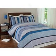 Erin Livid Striped Cotton Quilt Set