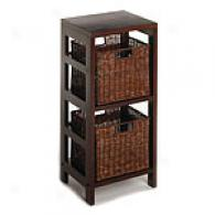 Espresso 3 Piece Storage Shelf Witu Baskets