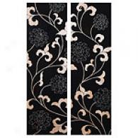 Espresso Stained Asian Blossoms Wood Art