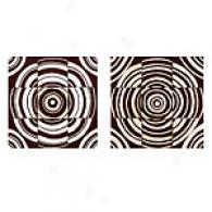 Espresso Stained Multi Circle Wood Art