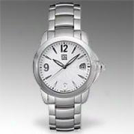 Es Dorado Mens Stainless Steel White Watch