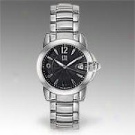 Esq Dorado Mens Stainless Steel Black Watch